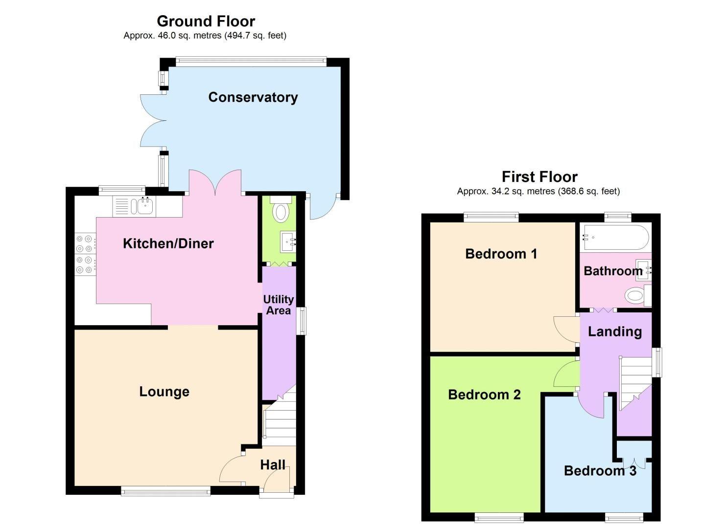 3 bed house to rent in Alexander Road - Property Floorplan