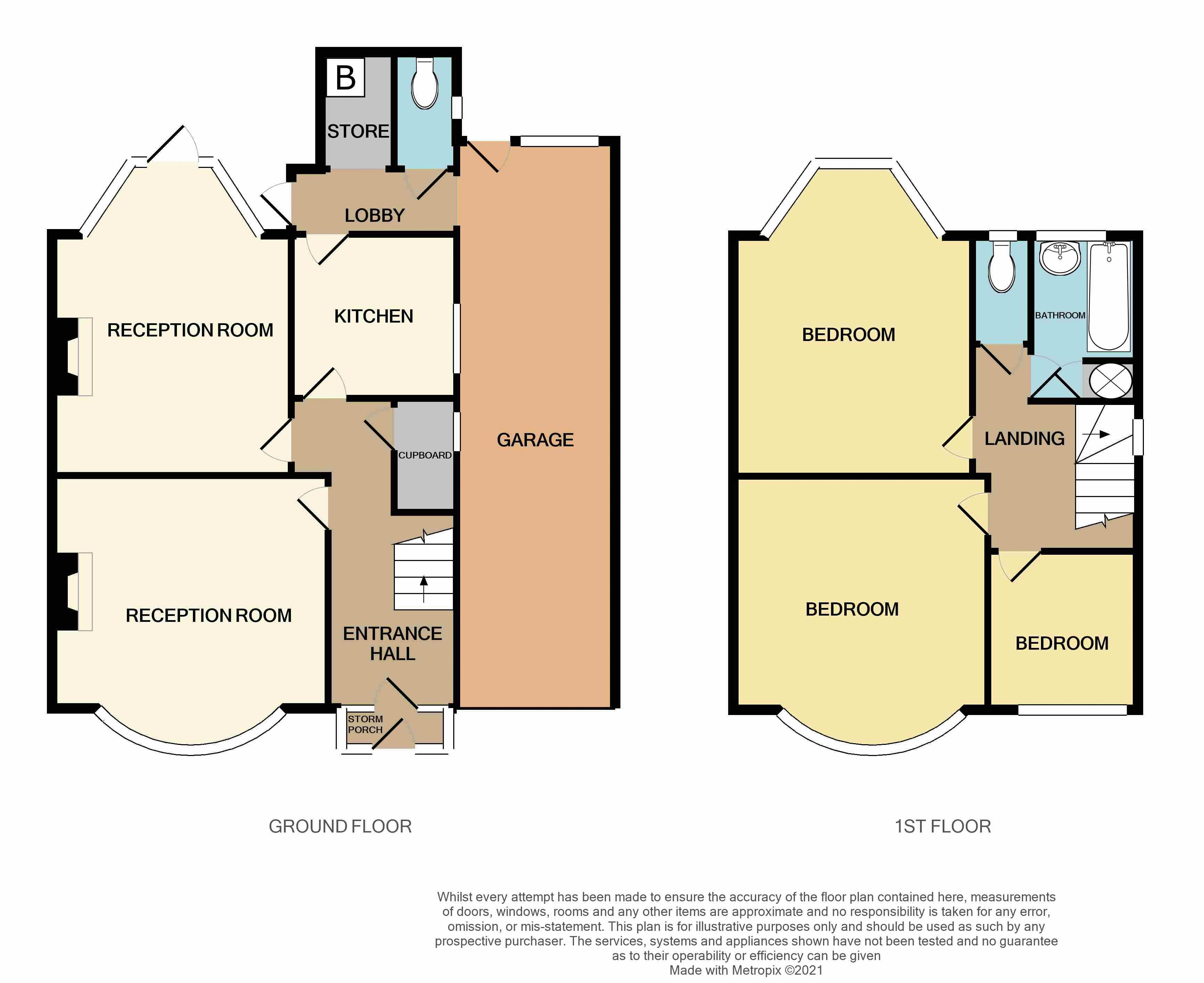 3 bed house for sale in Goodrest Avenue - Property Floorplan