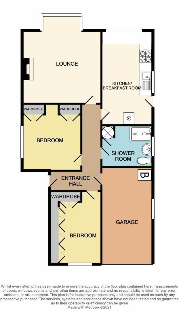 2 bed bungalow for sale in Highbury Avenue - Property Floorplan