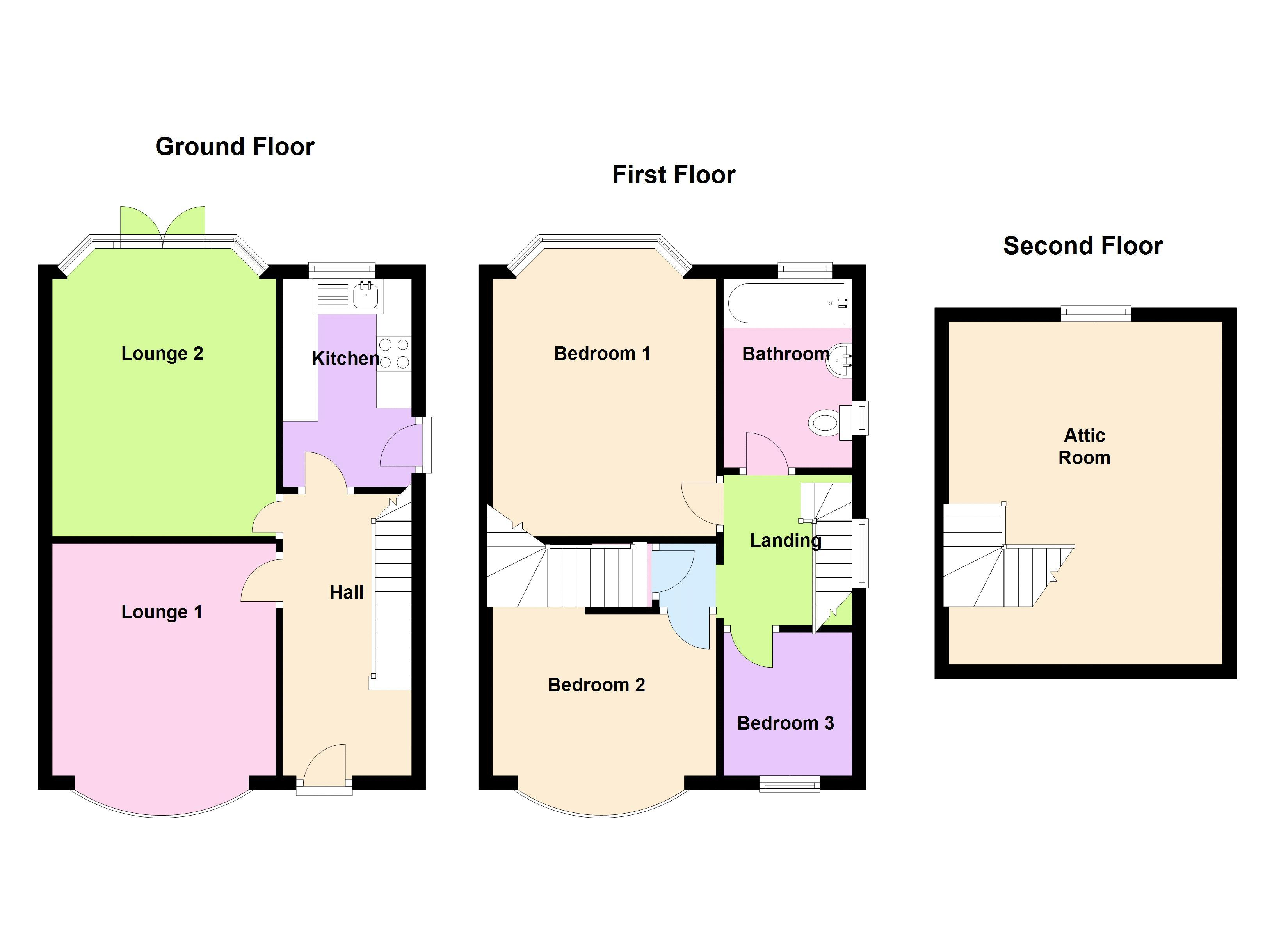 3 bed house for sale in Gorsy Road - Property Floorplan