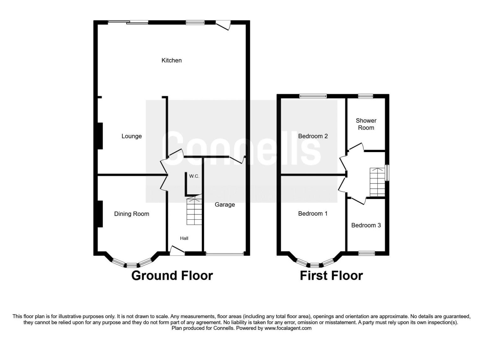 3 bed house for sale in Beverley Court Road - Property Floorplan