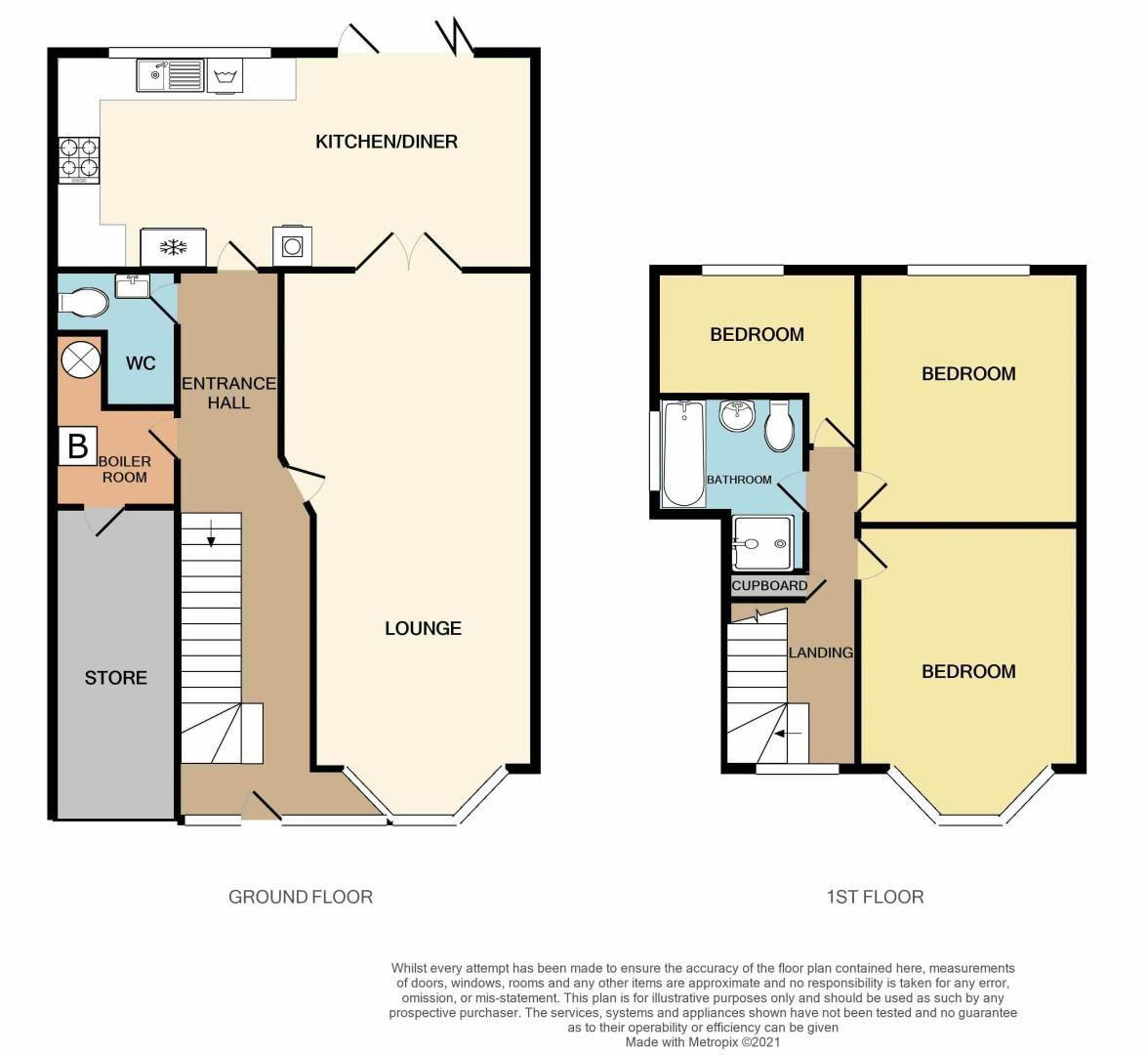 3 bed house for sale in Holly Road - Property Floorplan