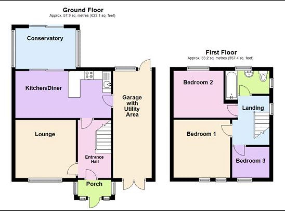 3 bed house to rent in Lansdowne Road - Property Floorplan