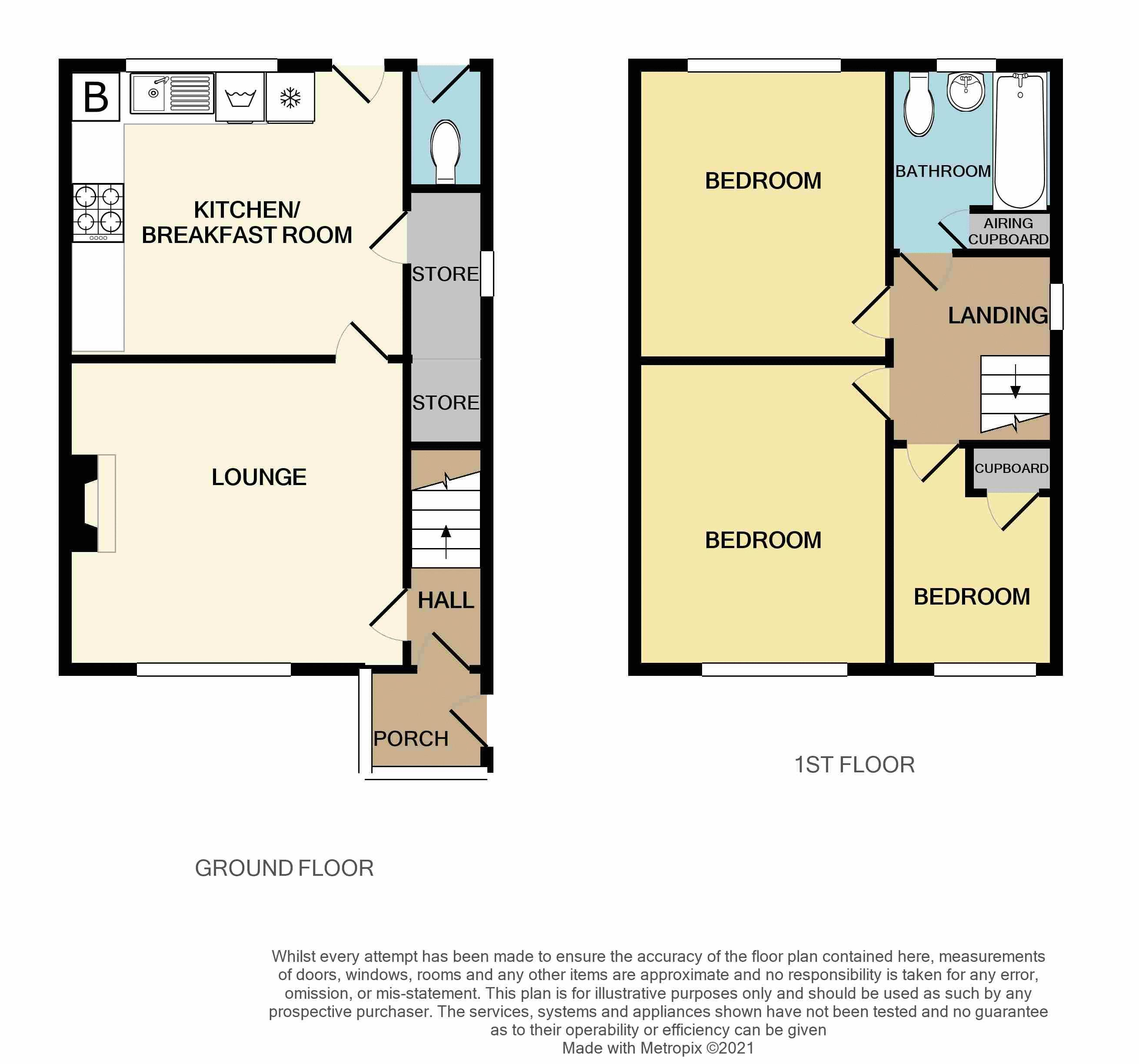 3 bed house for sale in Romsley Road - Property Floorplan