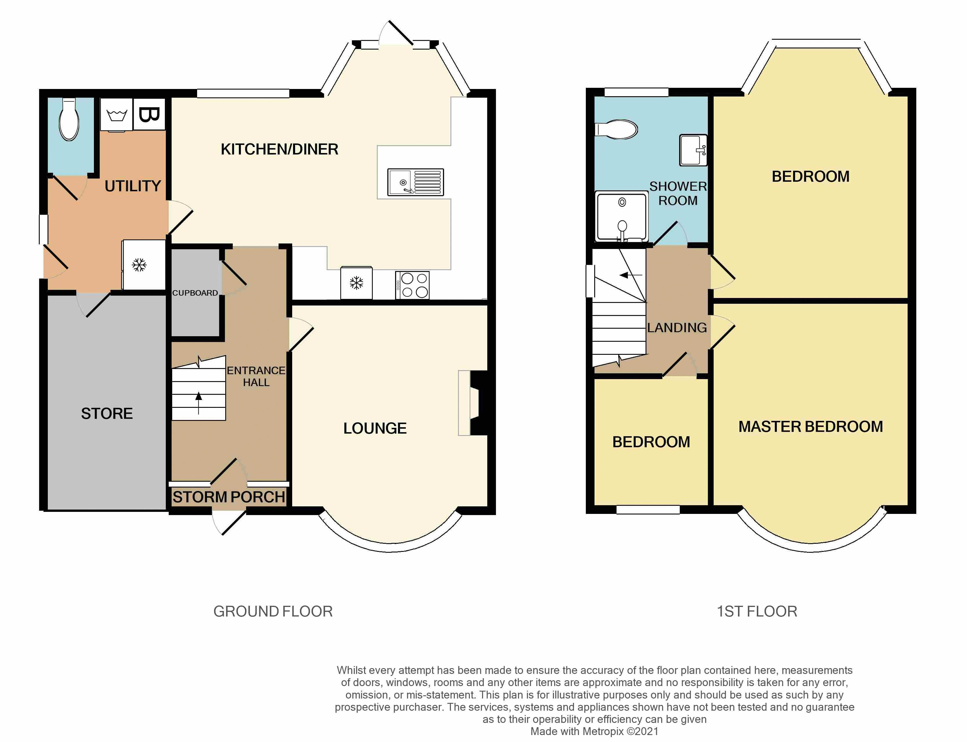 3 bed house for sale in Wolverhampton Road South - Property Floorplan