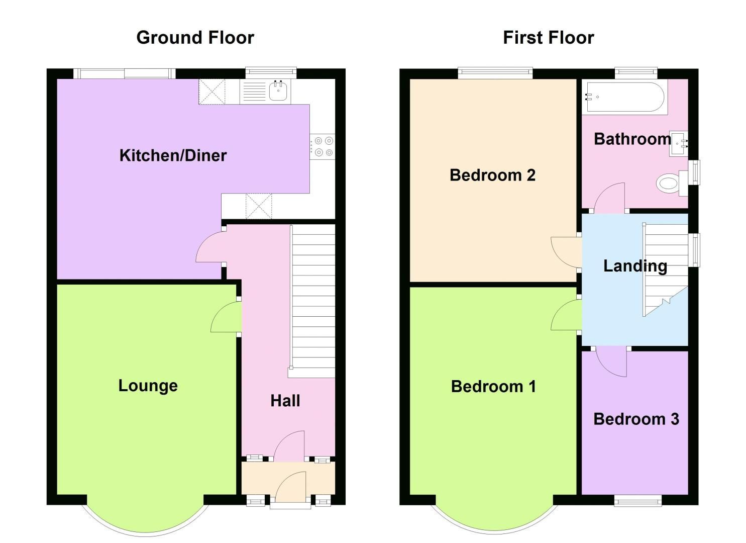 3 bed house for sale in Norman Avenue - Property Floorplan