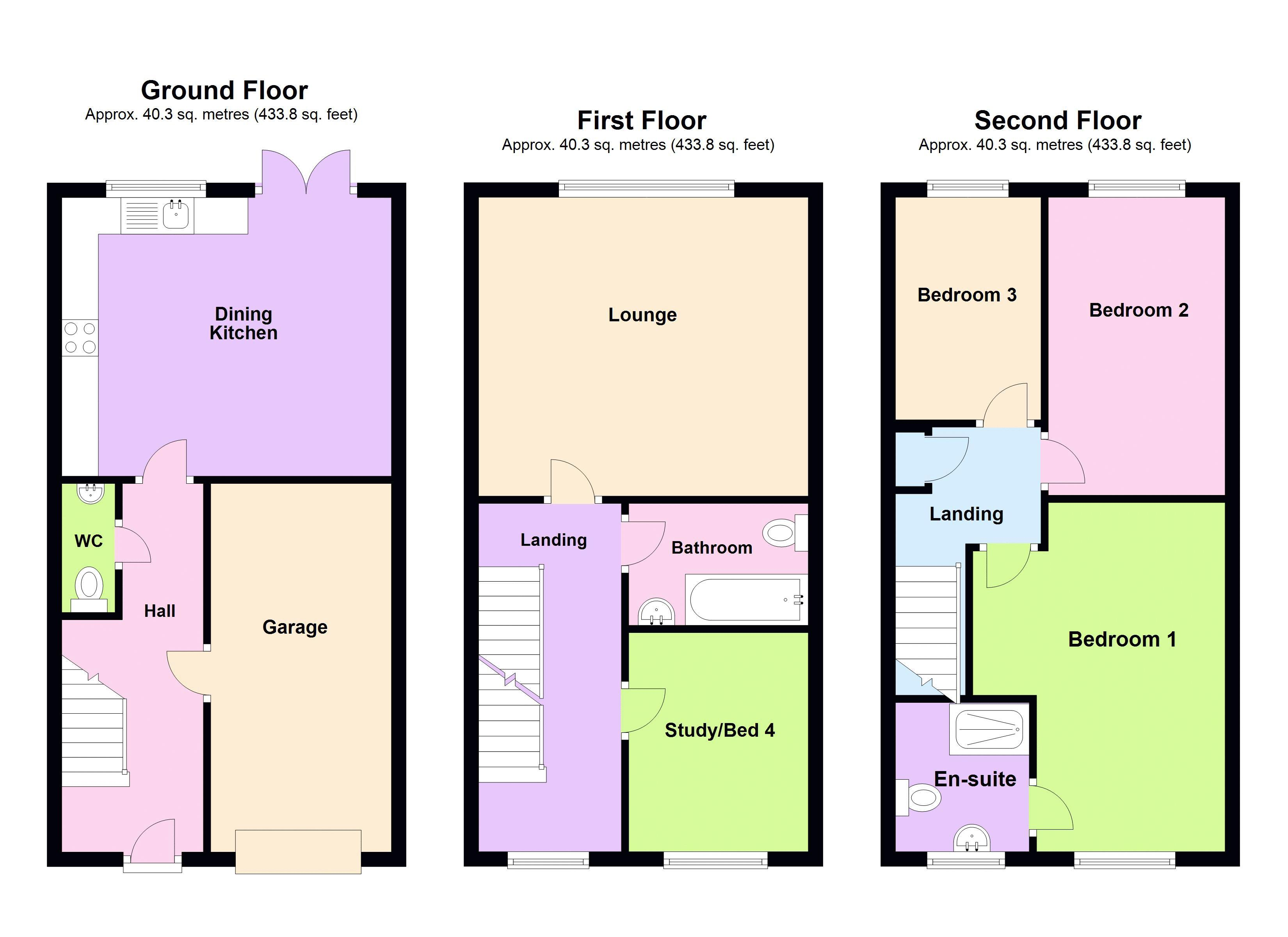 4 bed house for sale in Pel Crescent - Property Floorplan