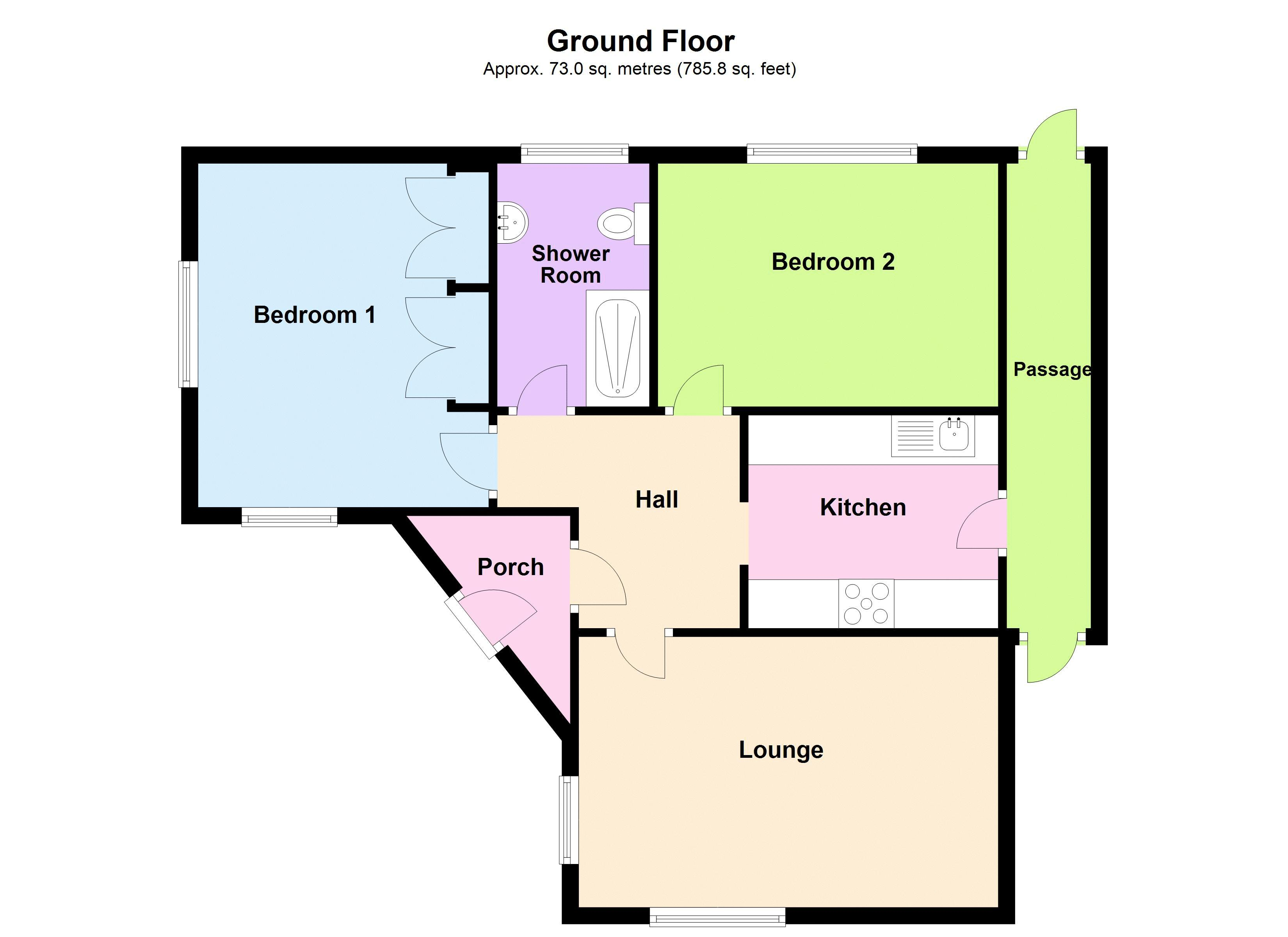 2 bed bungalow for sale in Mayfield Road - Property Floorplan