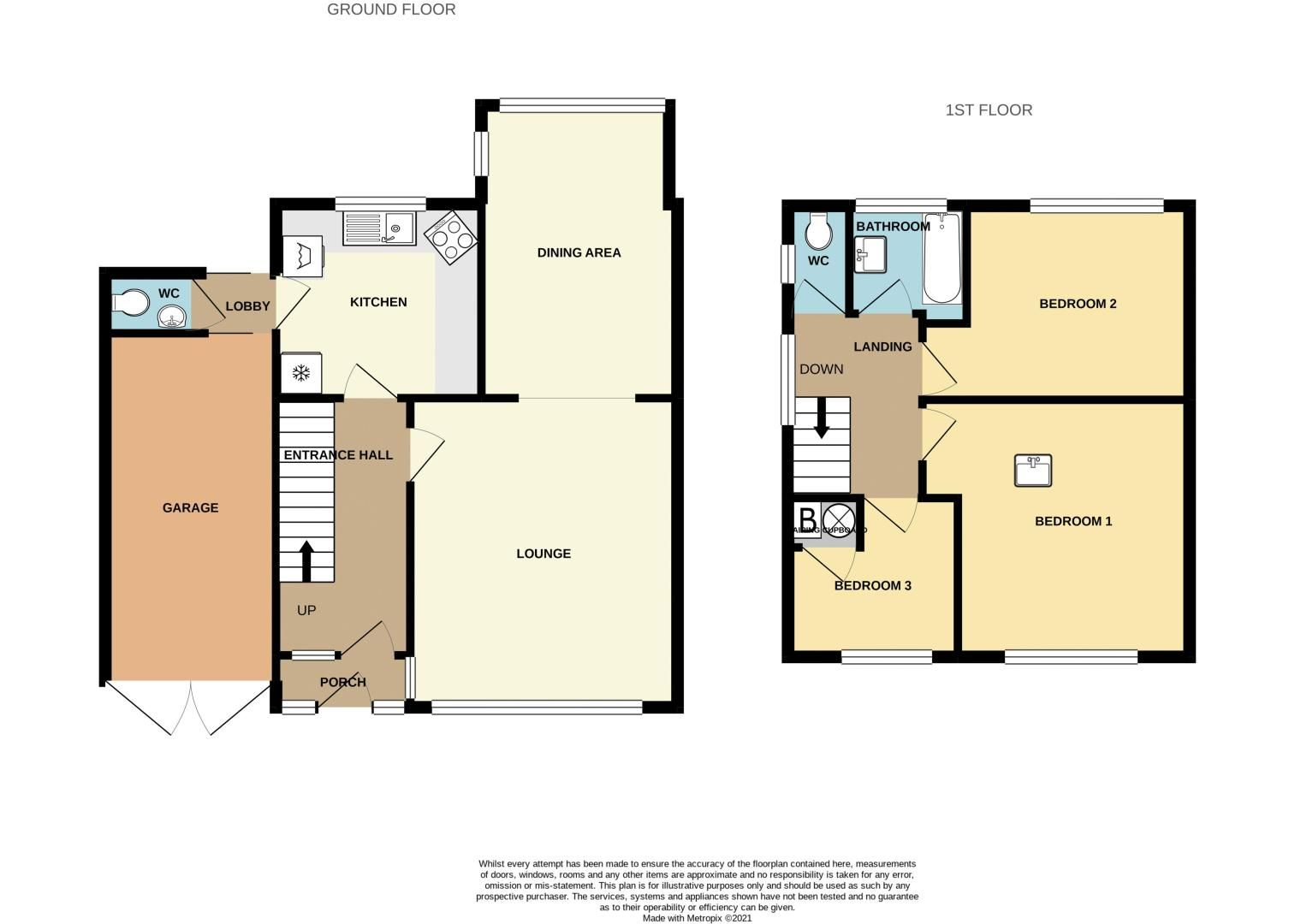 3 bed house for sale in Silverlands Avenue - Property Floorplan