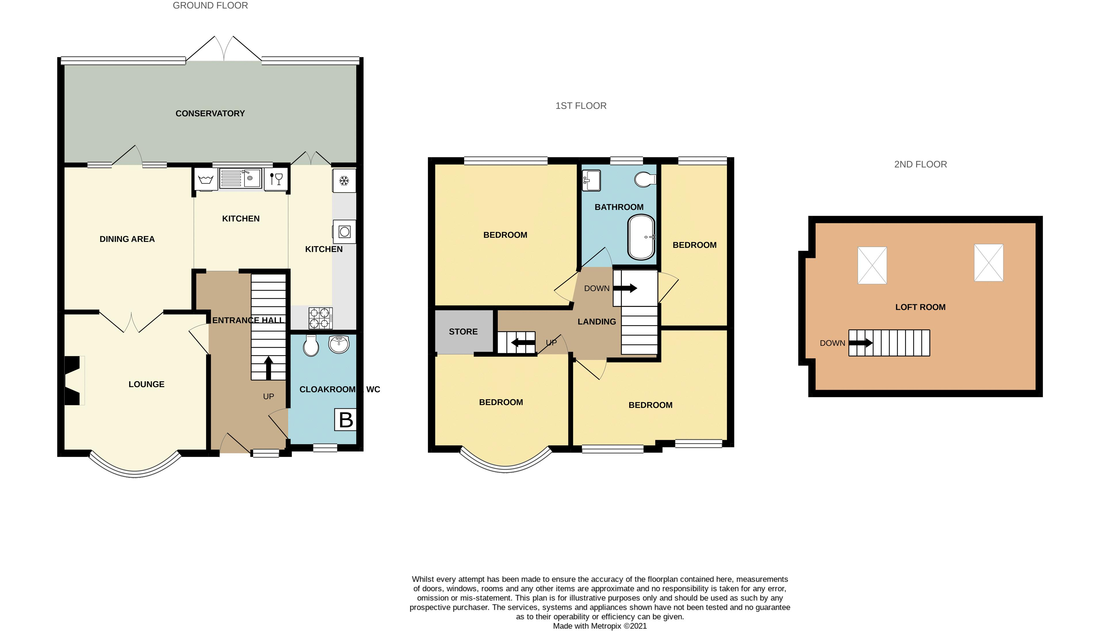 4 bed house for sale in Woodbourne Road - Property Floorplan