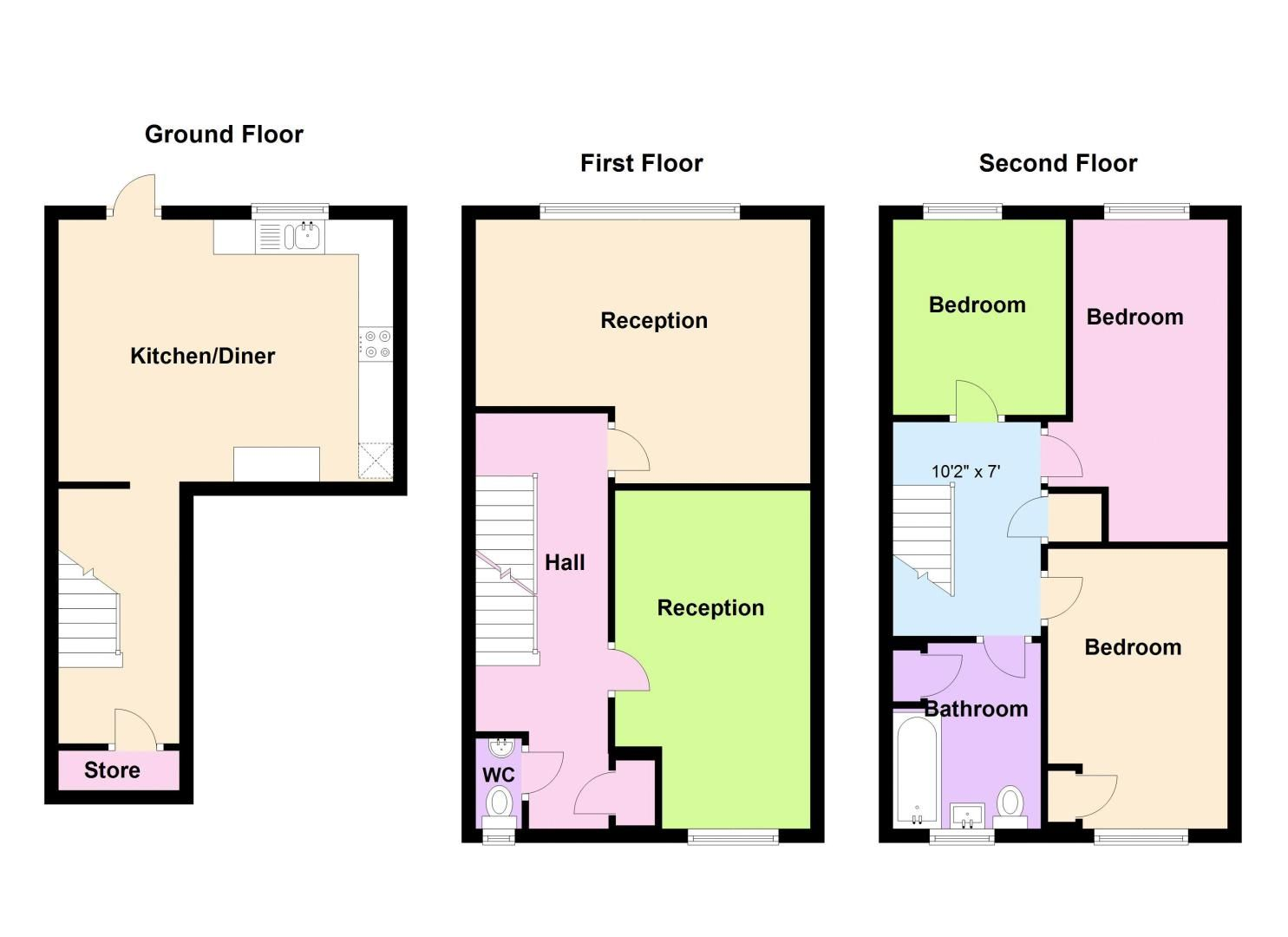 3 bed house to rent in Simmons Drive - Property Floorplan