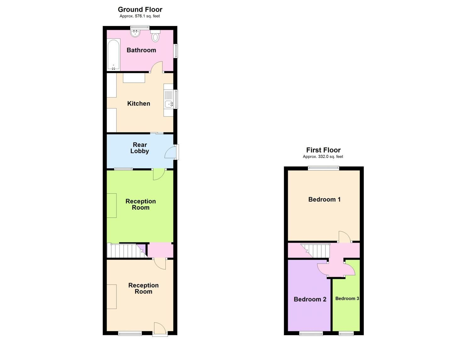 3 bed house to rent in Clyde Street - Property Floorplan