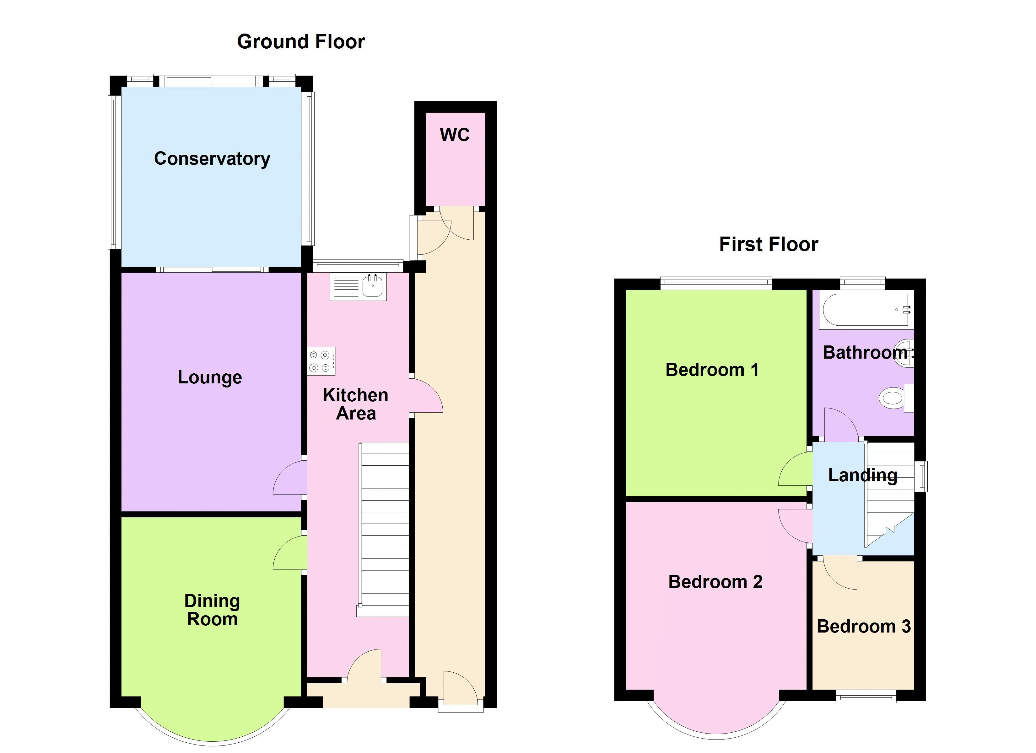 3 bed house for sale in White Road - Property Floorplan