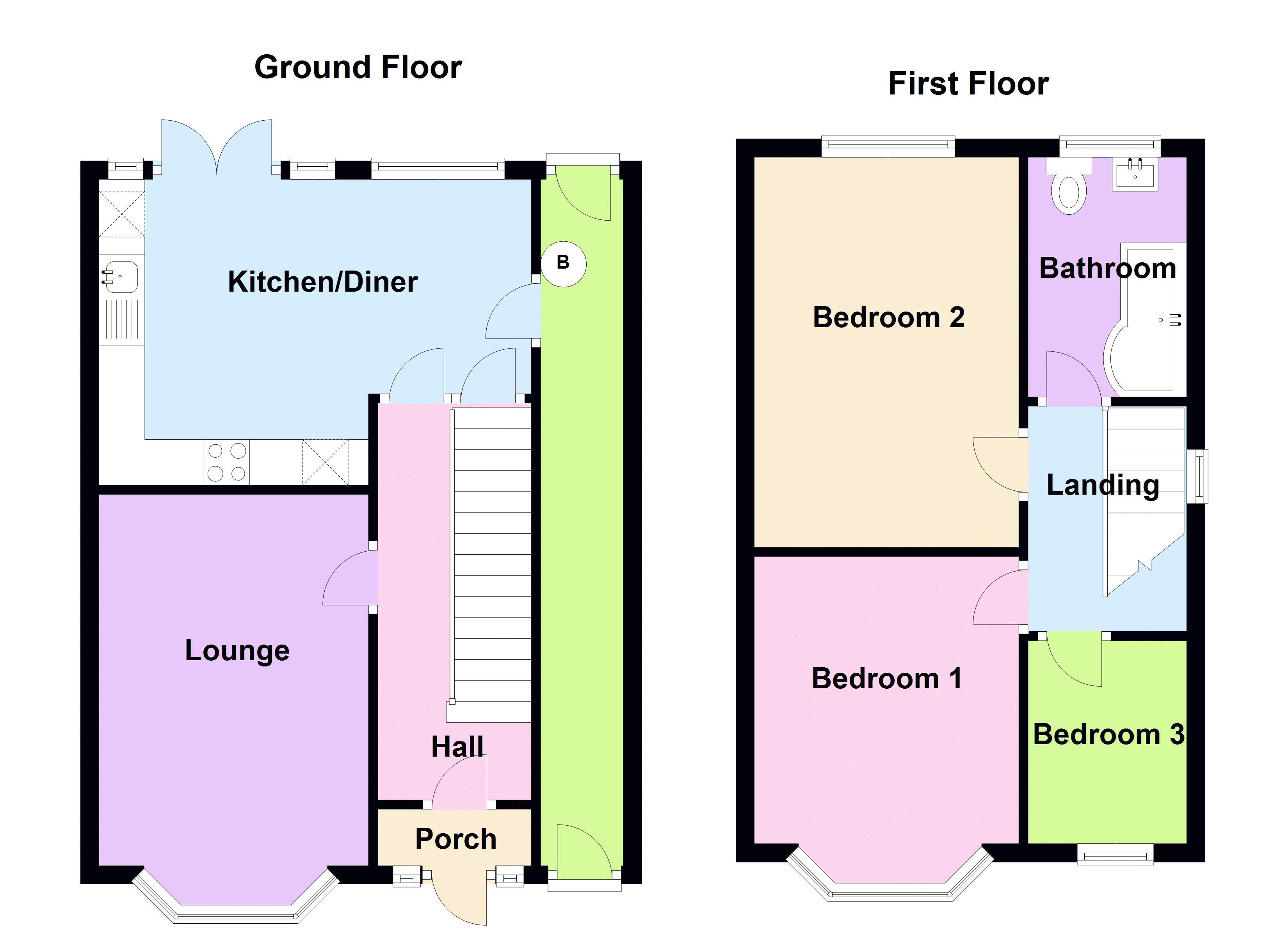 3 bed house to rent in Ridgacre Road - Property Floorplan