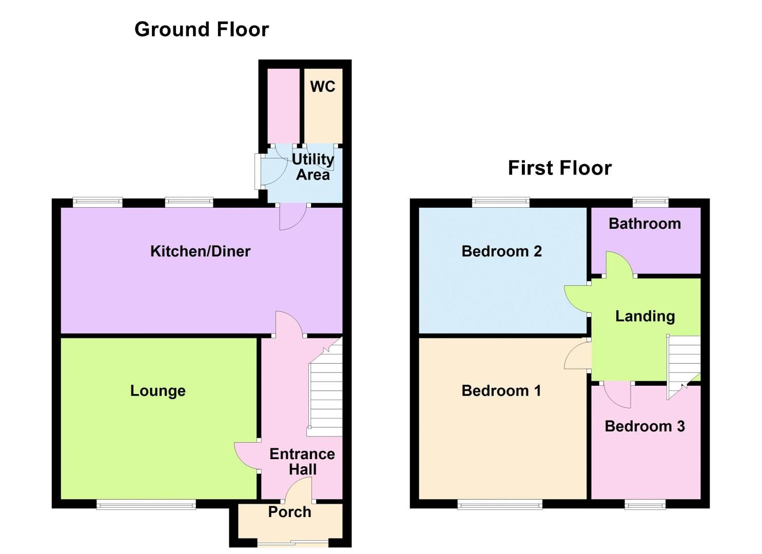 3 bed house to rent in Fleming Road - Property Floorplan