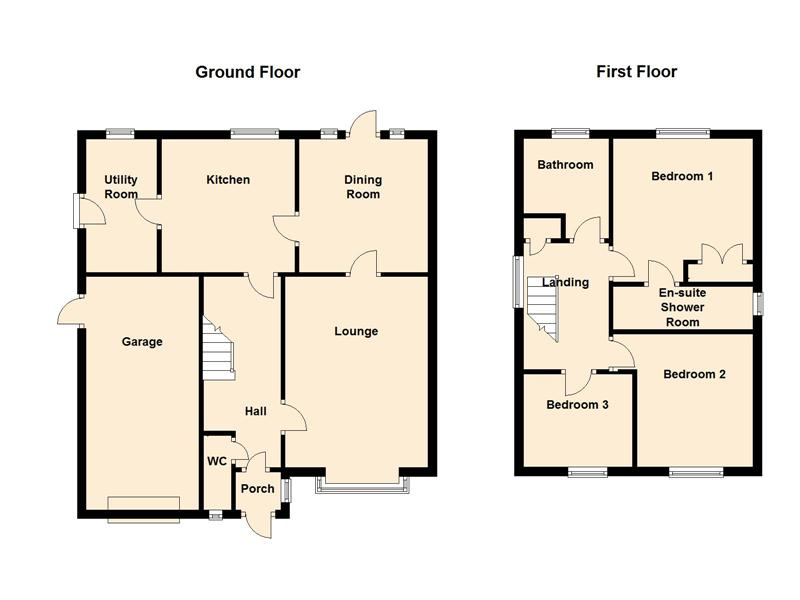 3 bed house to rent in Honeysuckle Close - Property Floorplan