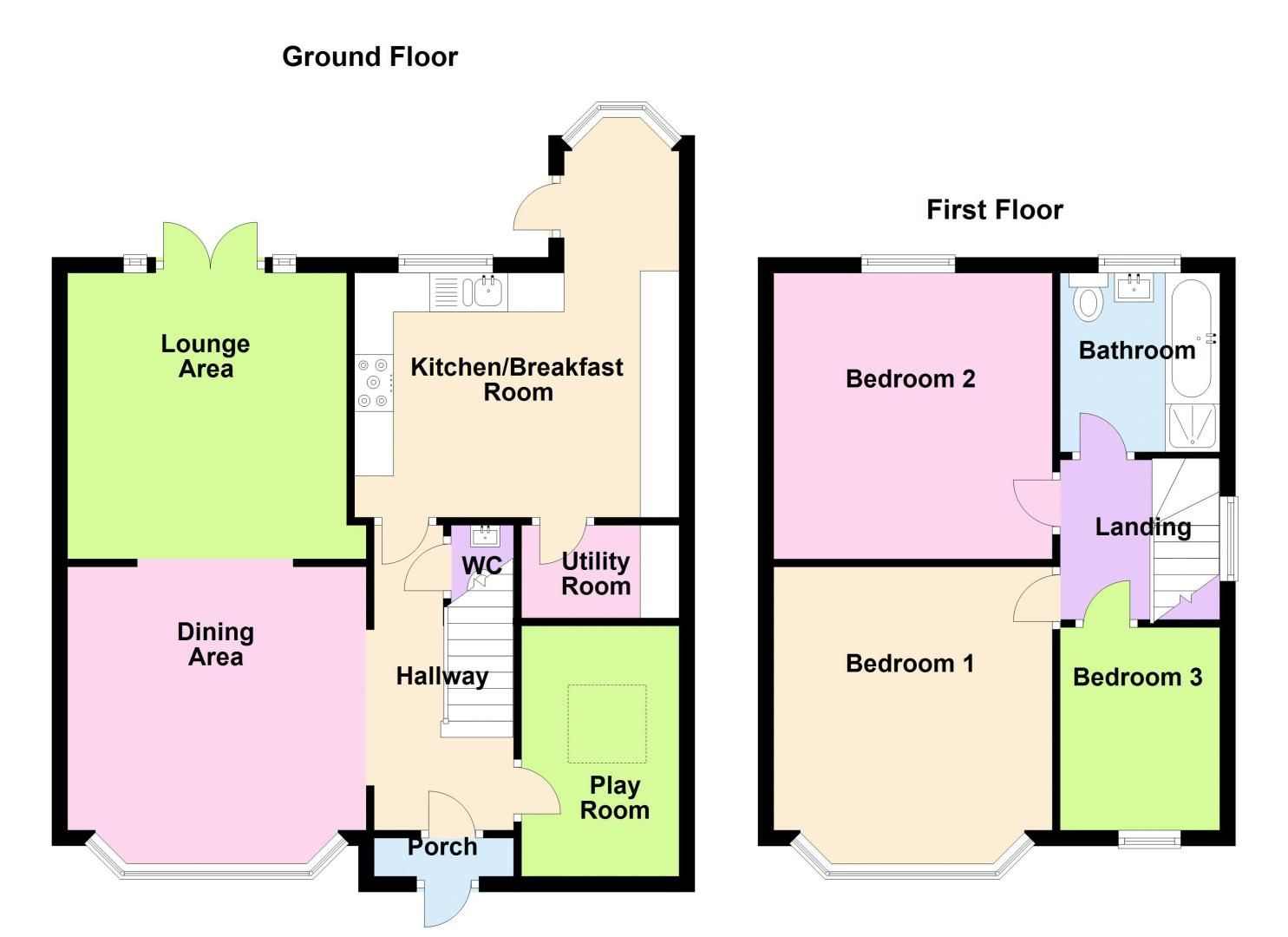3 bed house for sale in Whitley Court Road - Property Floorplan