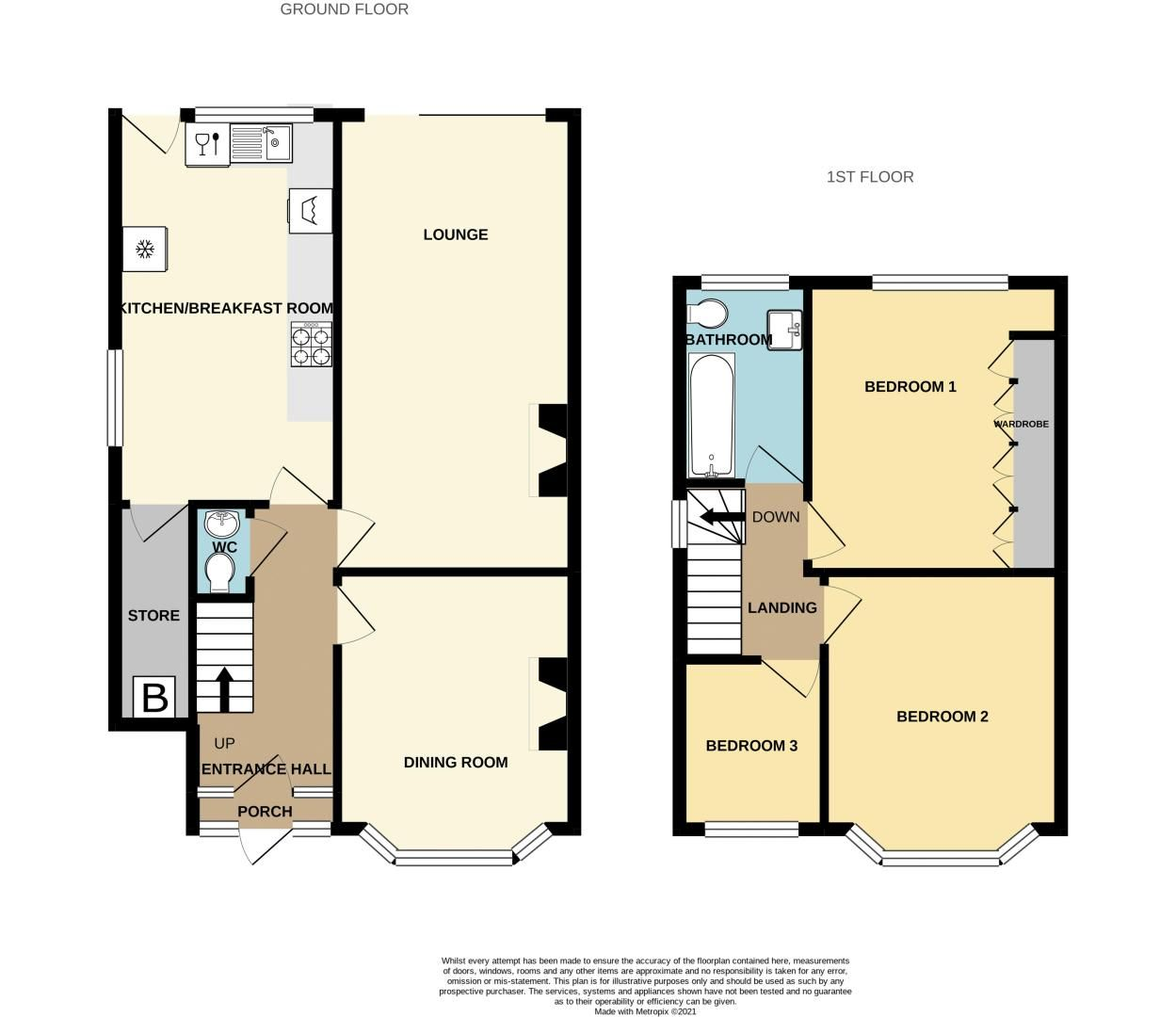 3 bed house for sale in Upper Meadow Road - Property Floorplan