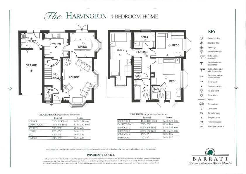 4 bed house to rent in Peartree Lane - Property Floorplan