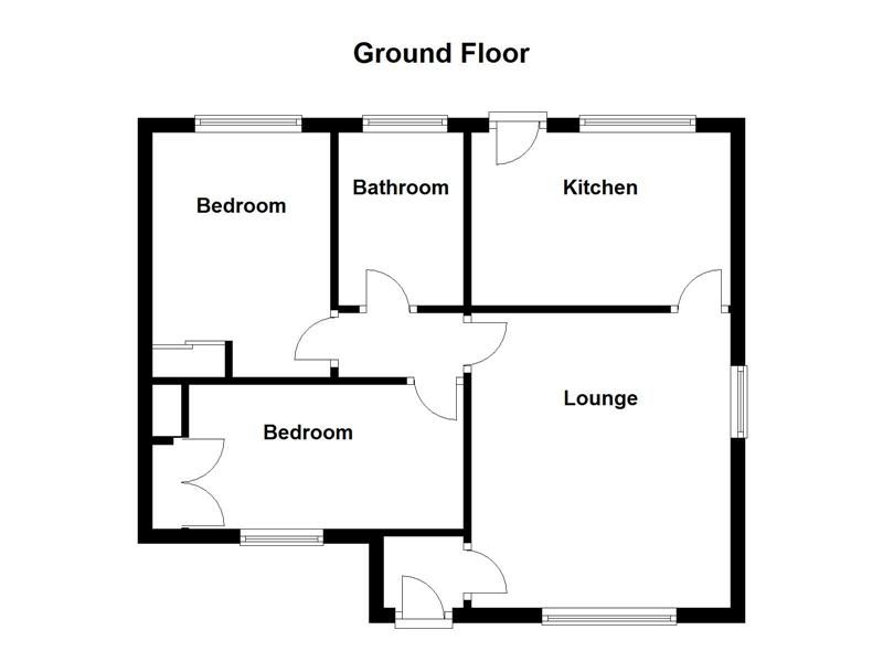 2 bed bungalow to rent in Lydate Road - Property Floorplan