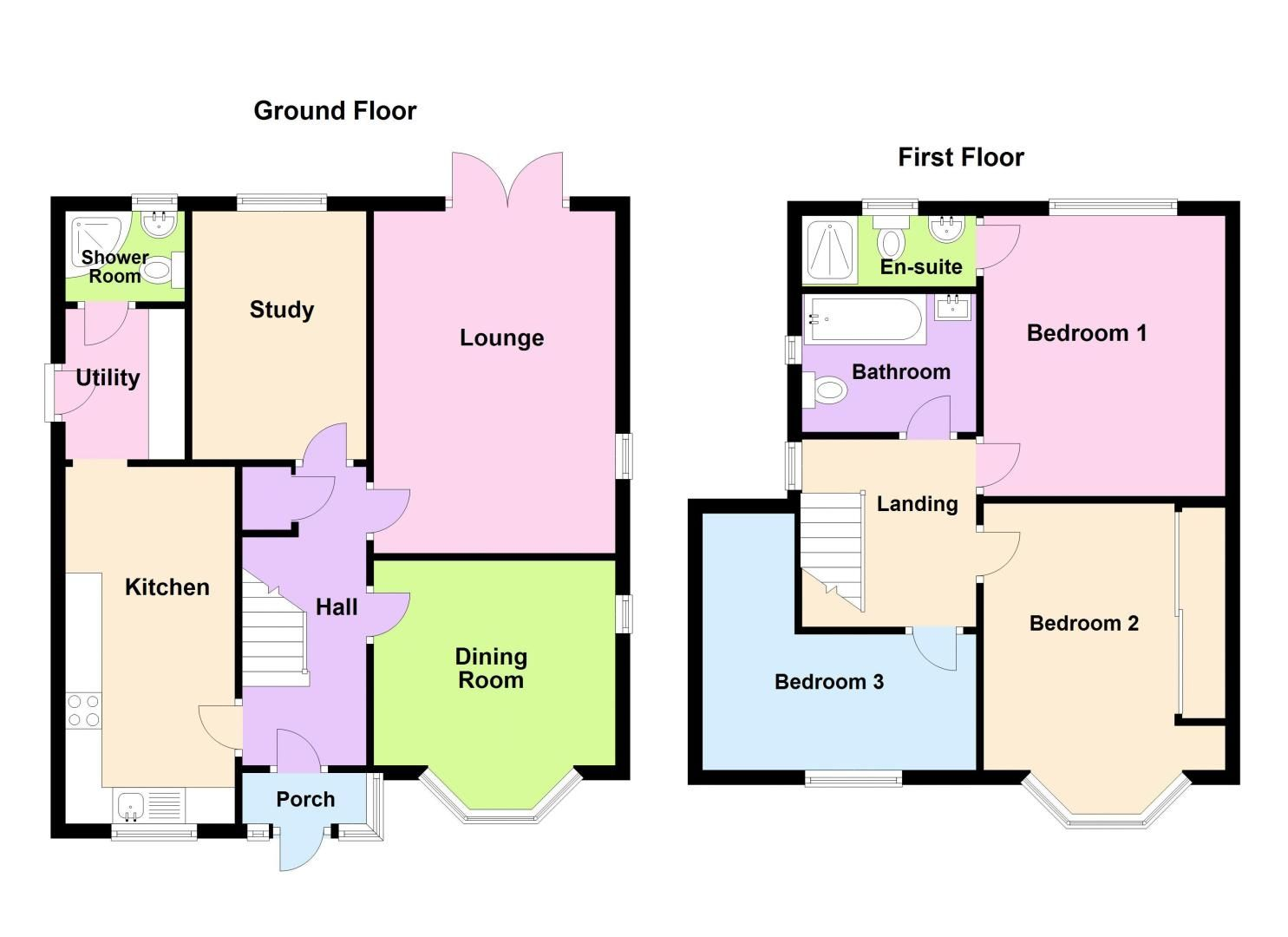 3 bed house for sale in Highfield Lane - Property Floorplan