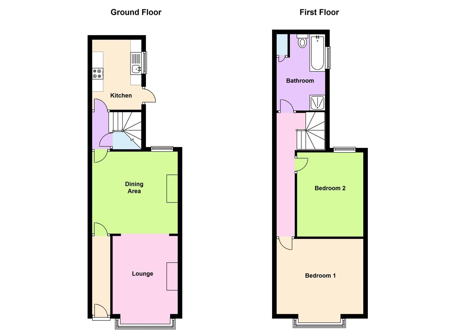 2 bed house to rent in Dunsford Road - Property Floorplan