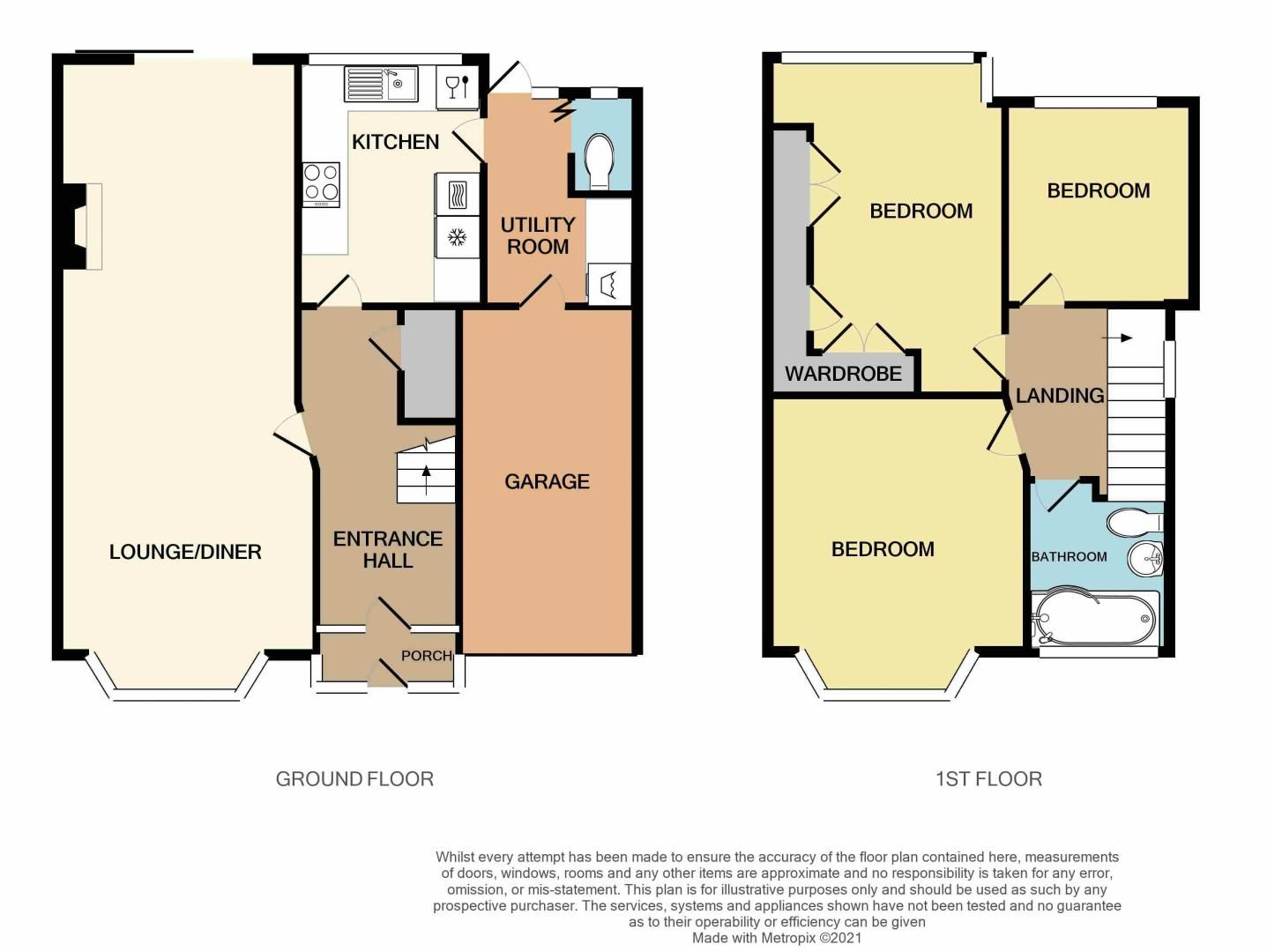 3 bed house for sale in Conway Avenue - Property Floorplan