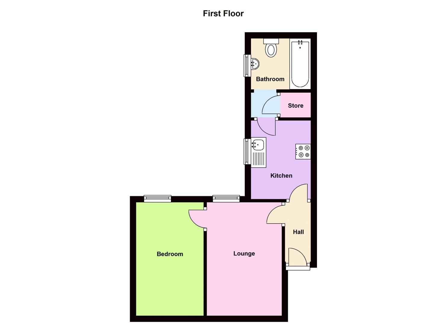 1 bed flat to rent in Stourbridge Road - Property Floorplan