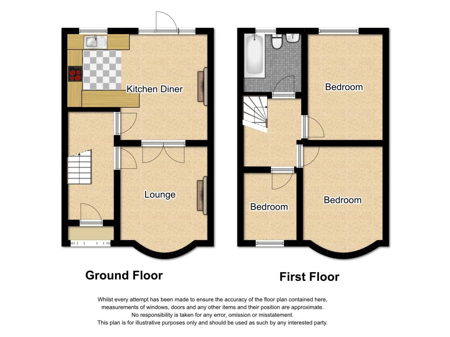 3 bed house for sale in Ashes Road - Property Floorplan