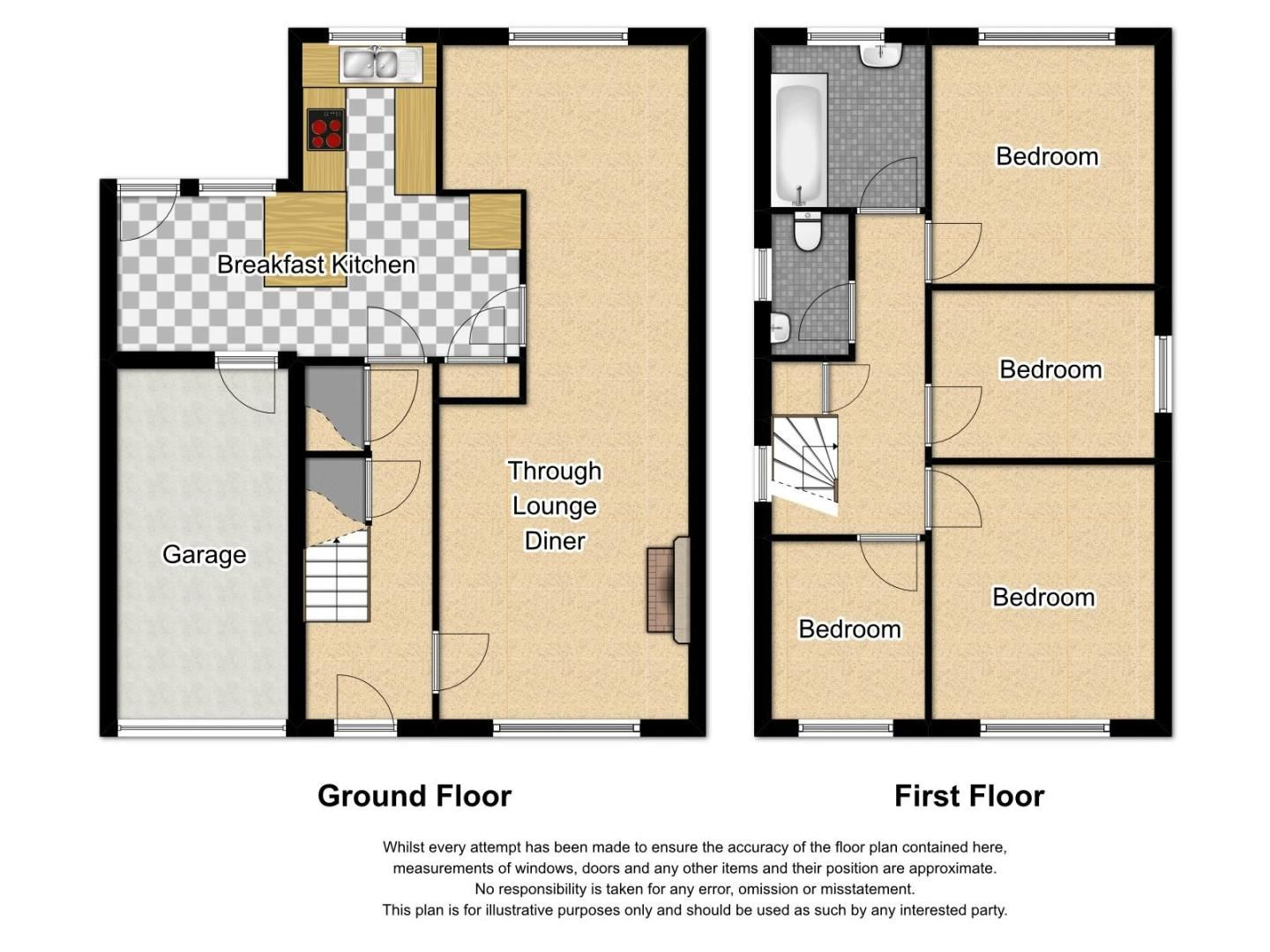 4 bed house to rent in Woodbury Road - Property Floorplan