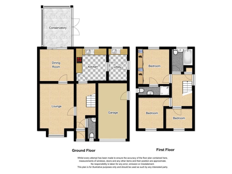 3 bed house to rent in Woodridge Avenue - Property Floorplan