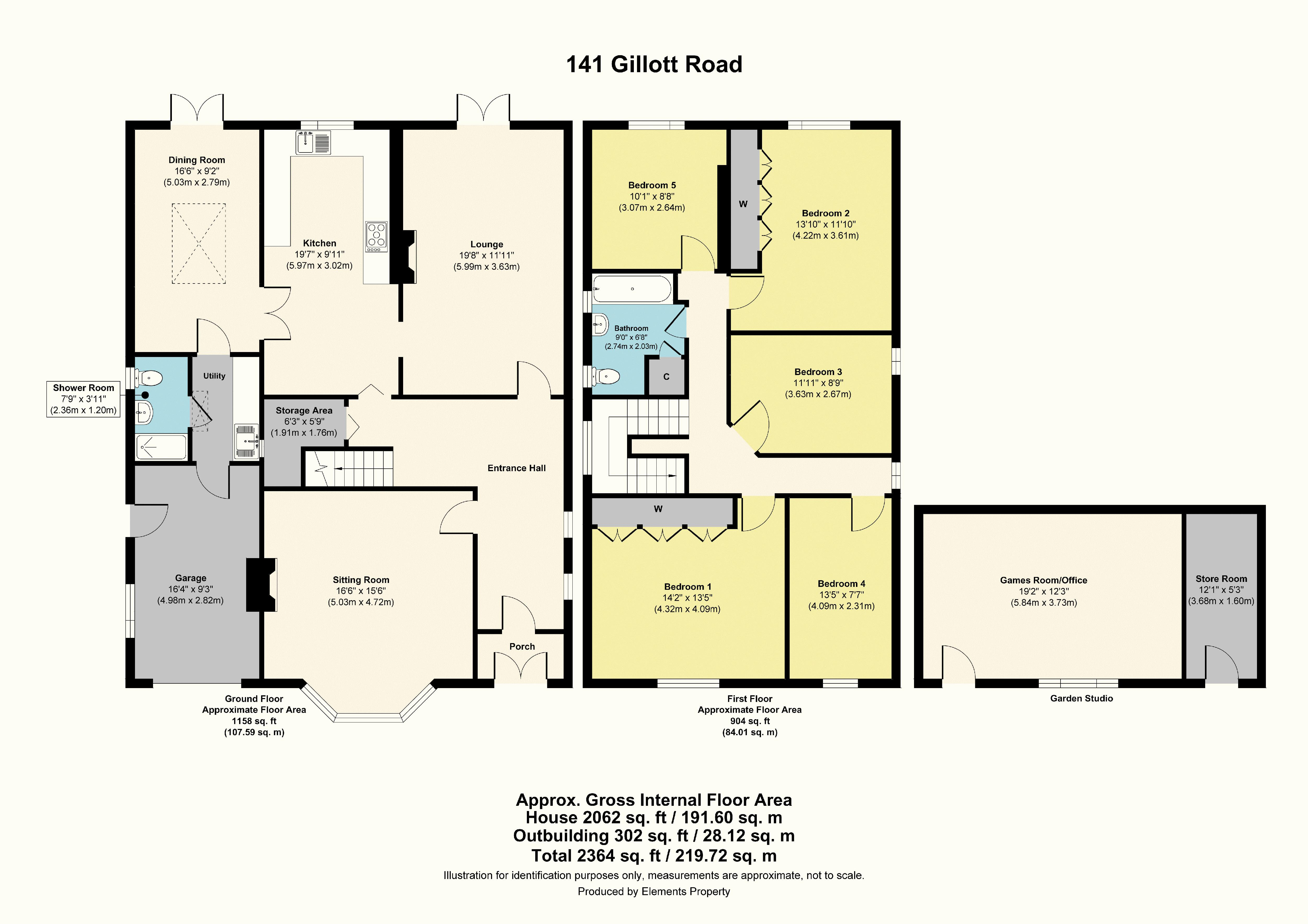 5 bed house for sale in Gillott Road - Property Floorplan