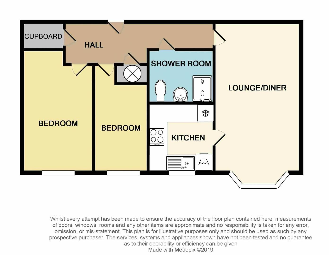 2 bed  for sale in Sandon Road - Property Floorplan