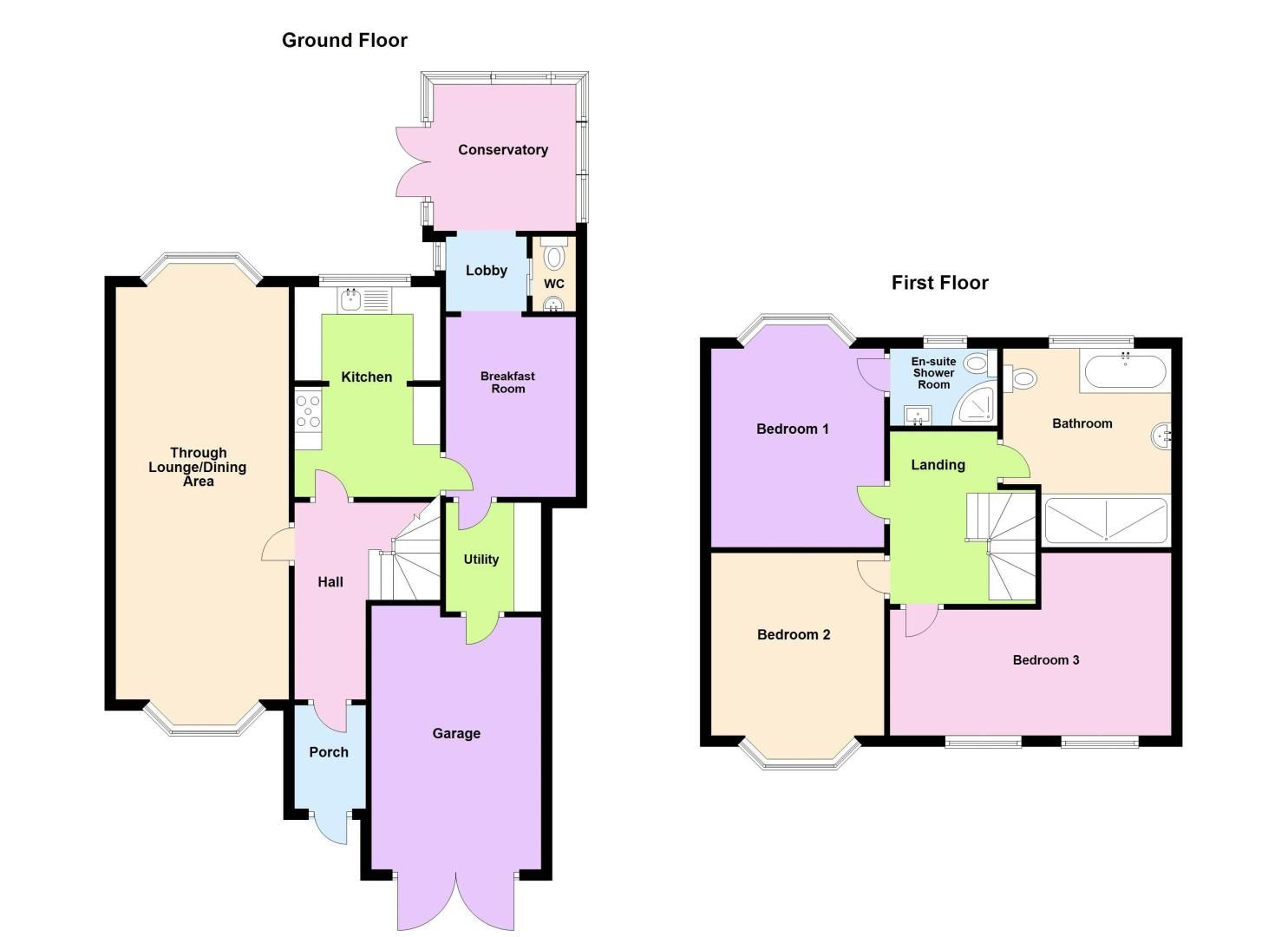3 bed house for sale in Broadway Croft - Property Floorplan