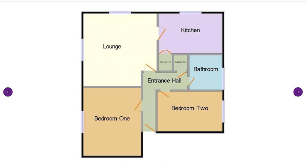 2 bed flat to rent in 14 Clent Way - Property Floorplan