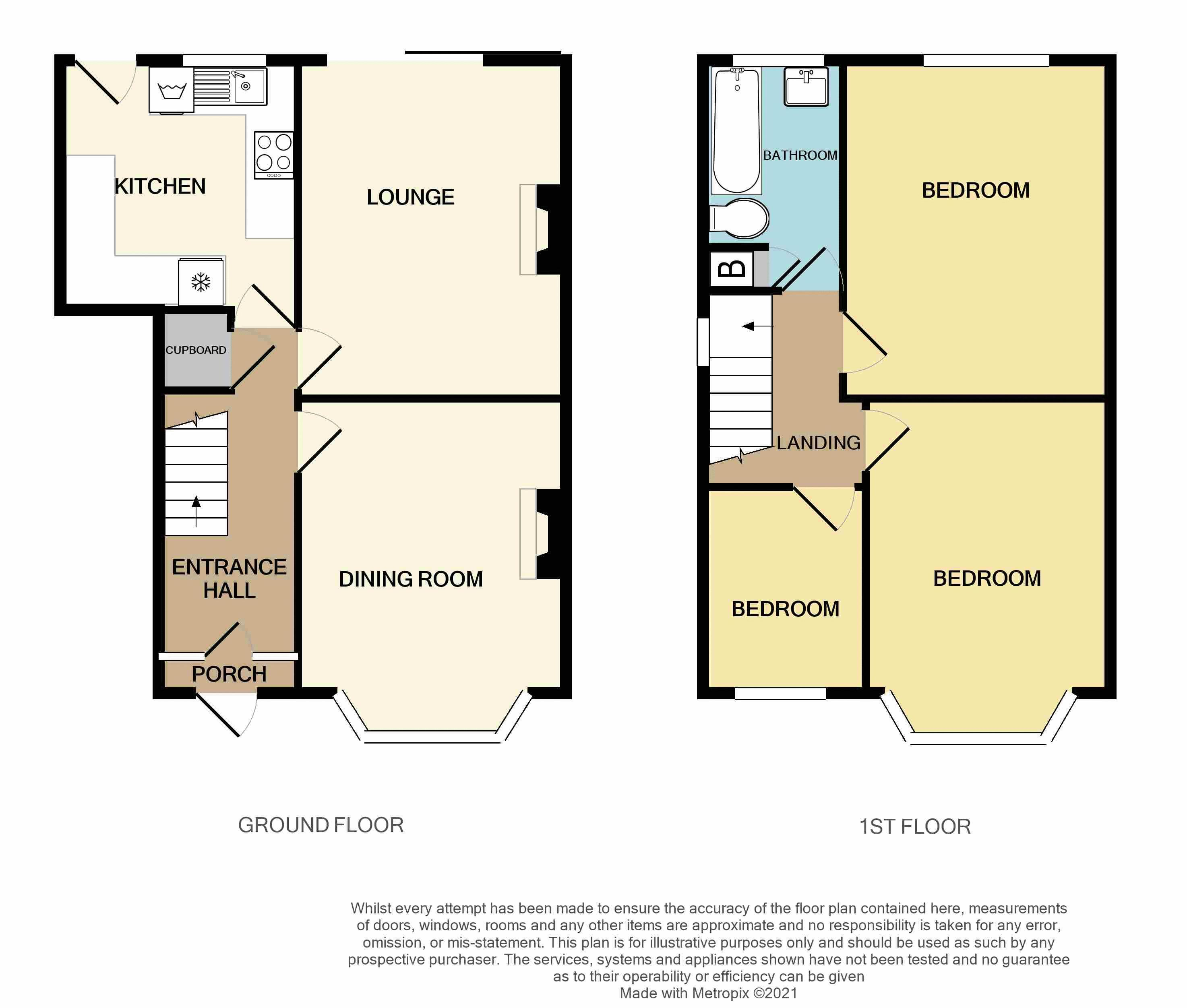 3 bed house for sale in Glyn Farm Road - Property Floorplan