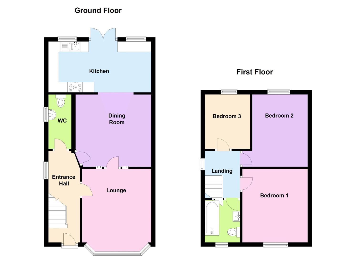 3 bed house to rent in Stourbridge Road - Property Floorplan