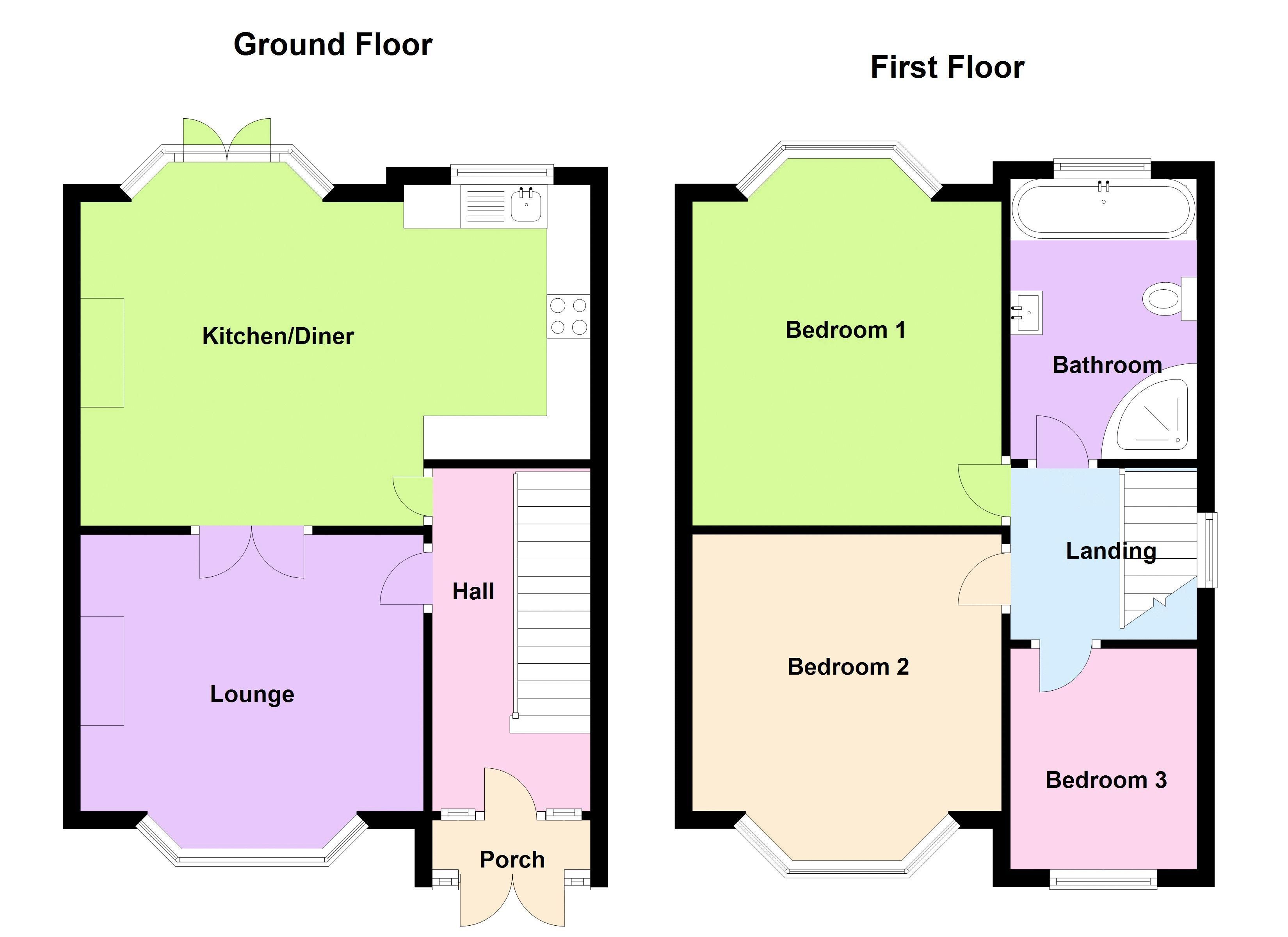 3 bed house to rent in Hagley Road West - Property Floorplan