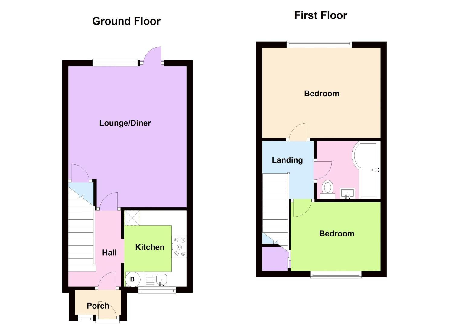 2 bed house to rent in Thornhurst Avenue - Property Floorplan