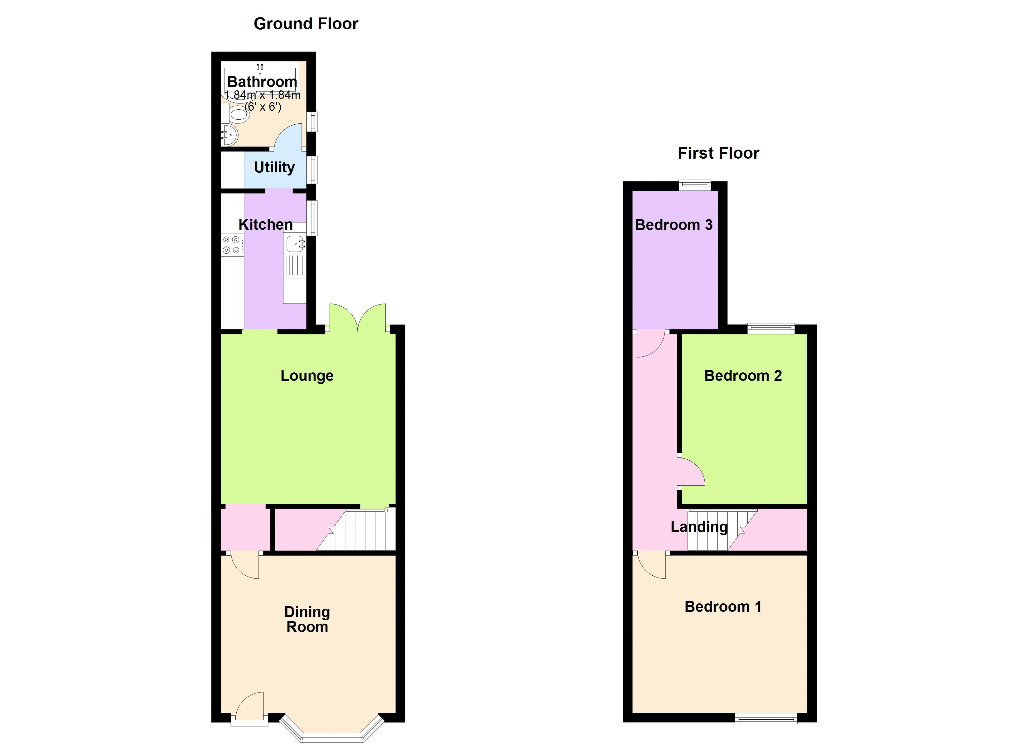3 bed house to rent in Penncricket Lane - Property Floorplan