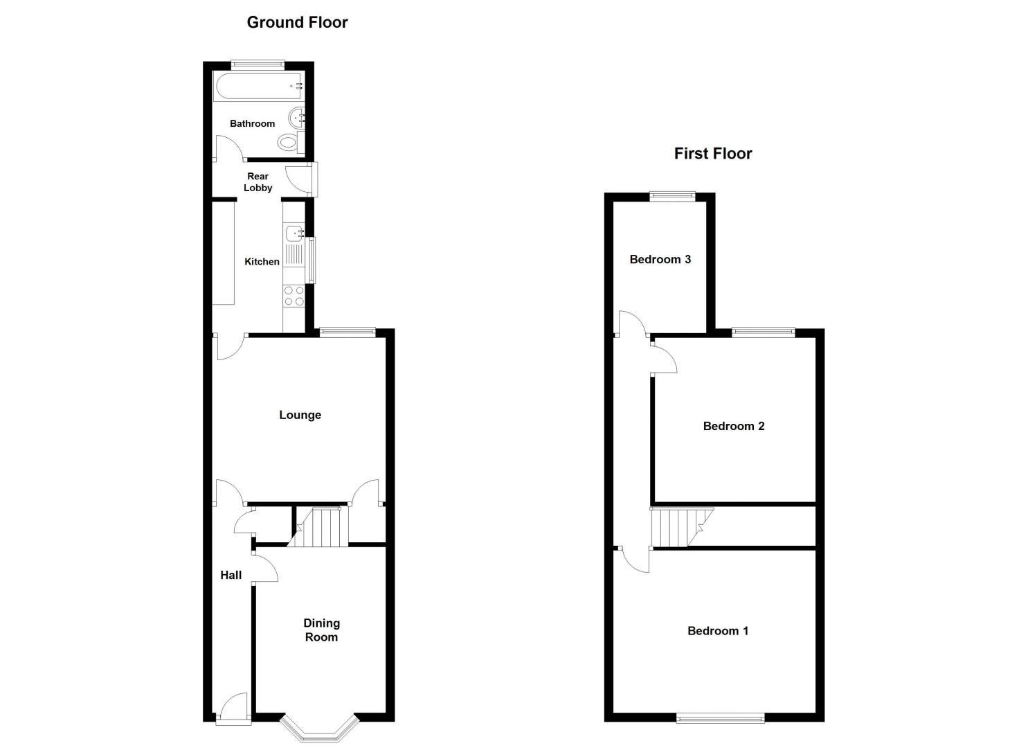 3 bed house for sale in Pargeter Road - Property Floorplan