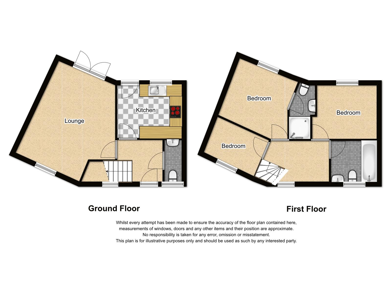 3 bed house for sale in Hurst Green Road - Property Floorplan