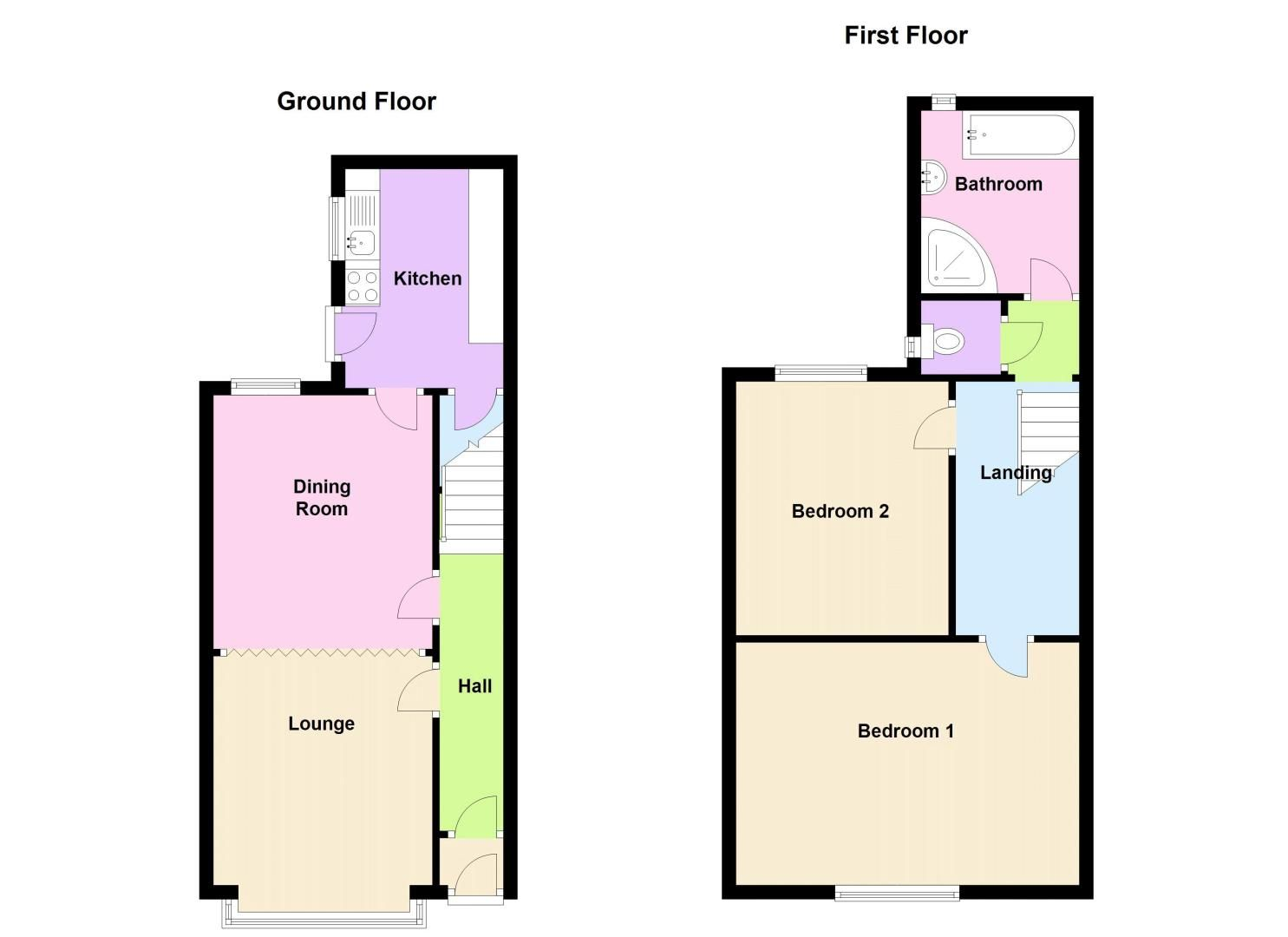 2 bed house to rent in Milcote Road - Property Floorplan