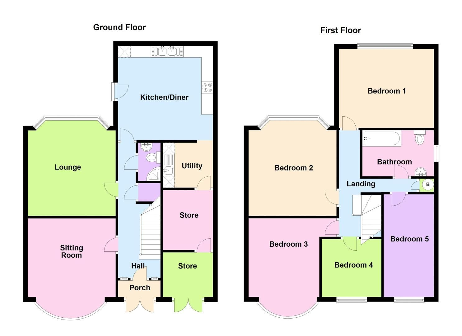 5 bed house for sale in Edenhall Road - Property Floorplan
