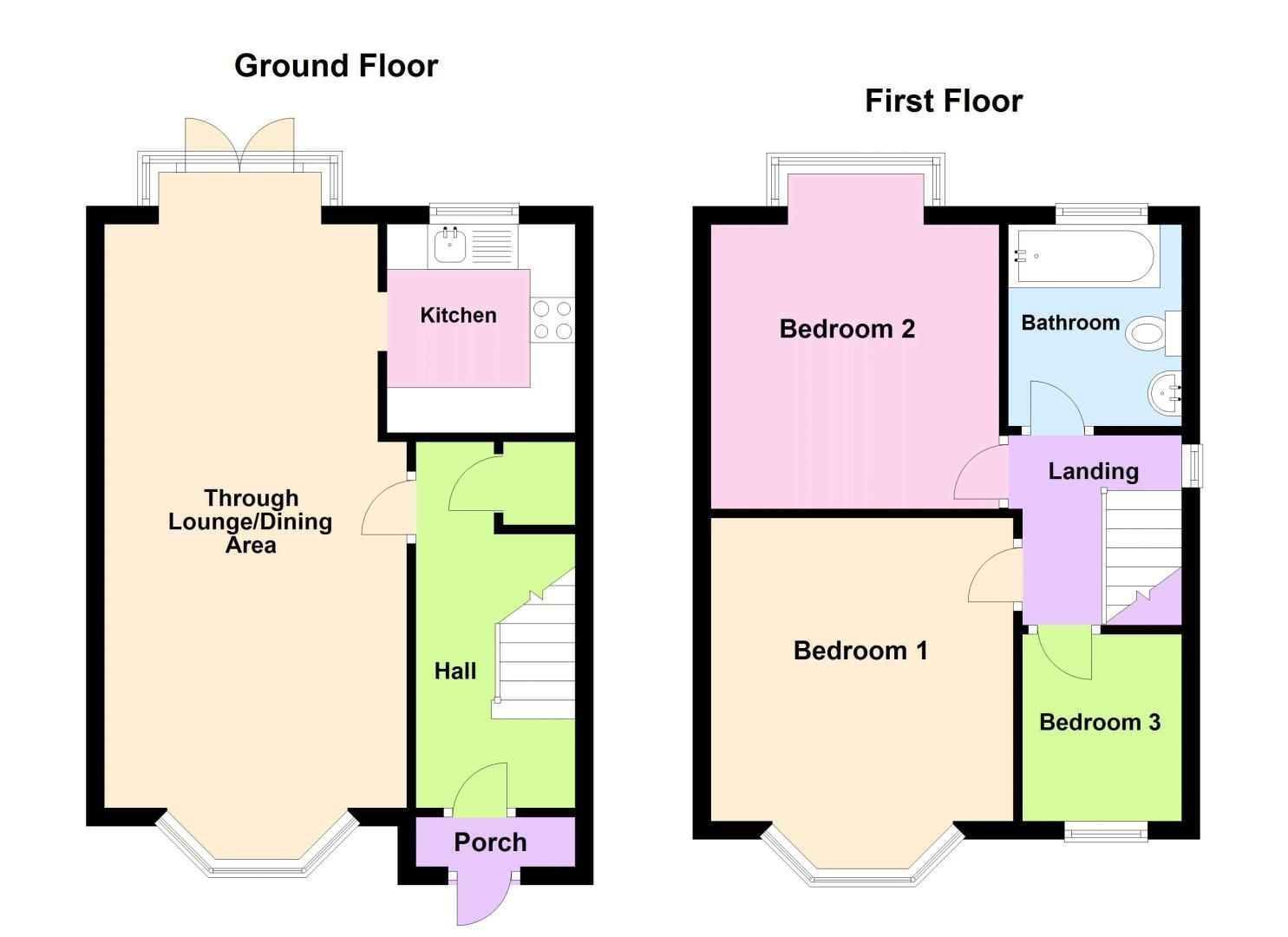 3 bed house for sale in Quinton Lane - Property Floorplan