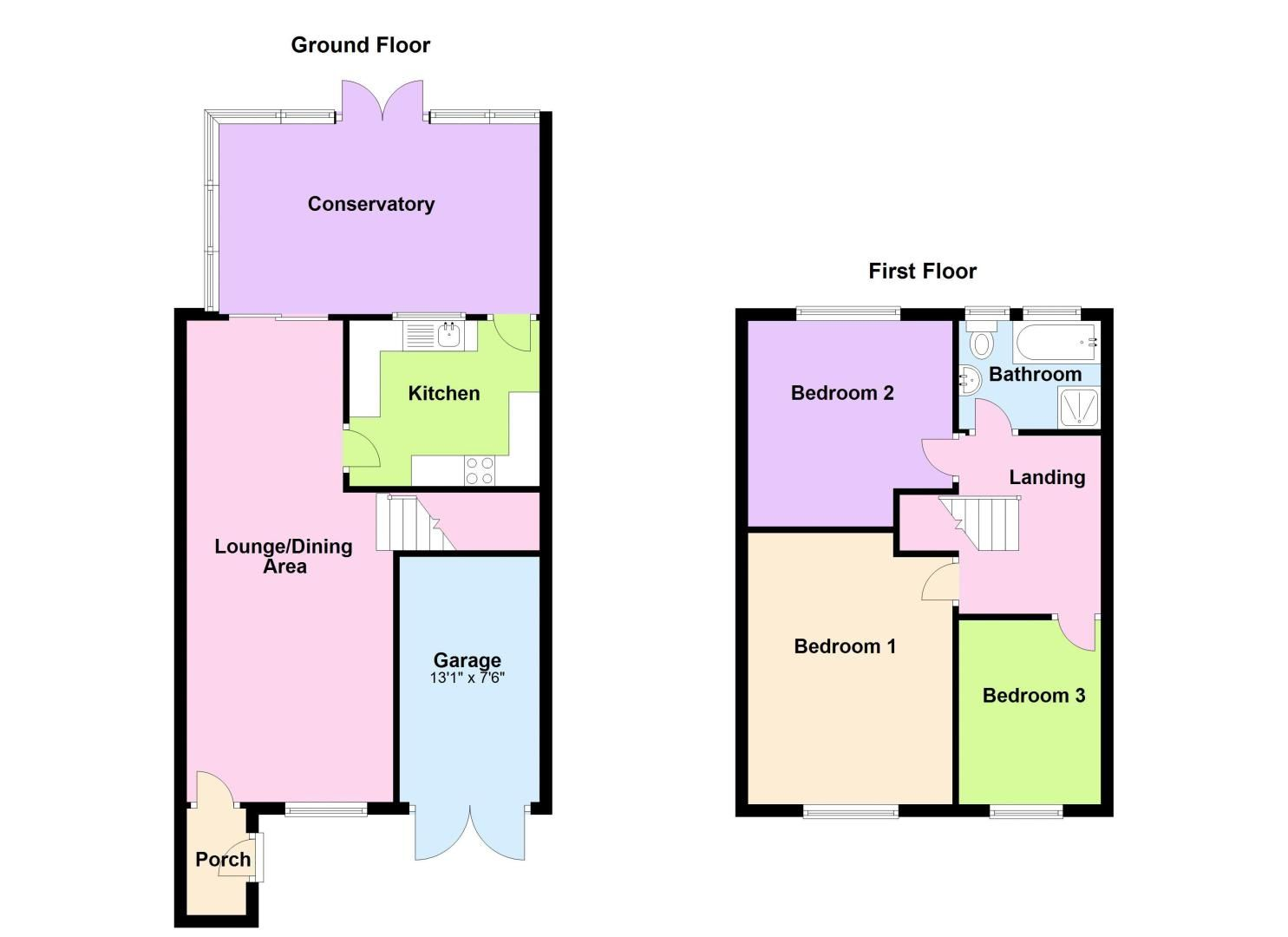 3 bed house for sale in Ridgacre Road - Property Floorplan