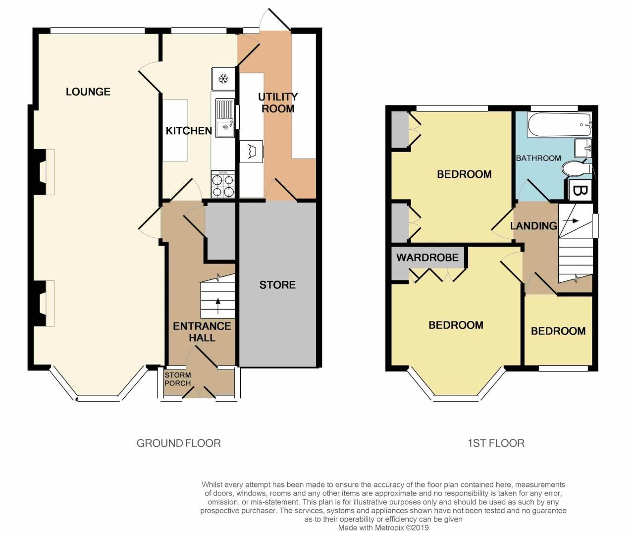 3 bed house for sale in Beech Avenue - Property Floorplan