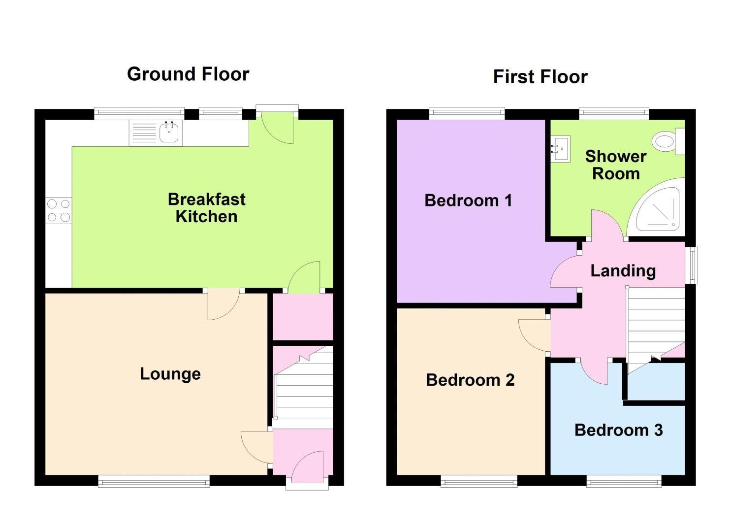 3 bed house for sale in Mavis Gardens - Property Floorplan