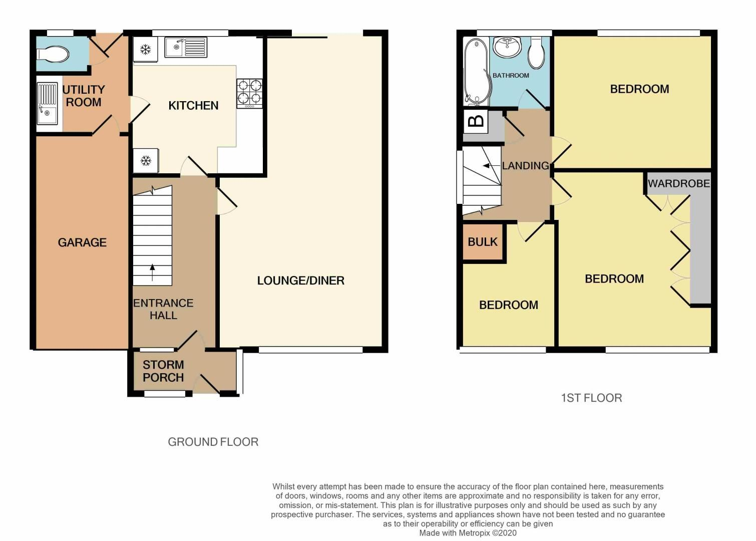 3 bed house for sale in Woodbury Road - Property Floorplan