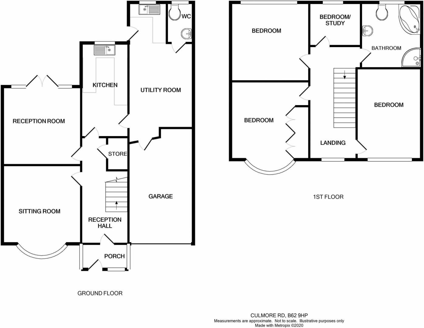3 bed house for sale in Culmore Road - Property Floorplan